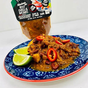 Mexican Beef & Chilli Wedges Fakeaway ® 183 Calories Ready Meal - theskinnyfoodco