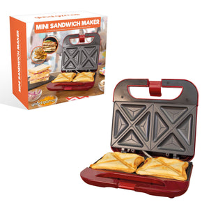 Non Stick Mini Toastie Maker - 750W - theskinnyfoodco