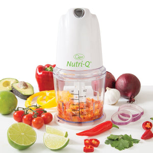 Nutri-Q Turbo Food Chopper - White - theskinnyfoodco