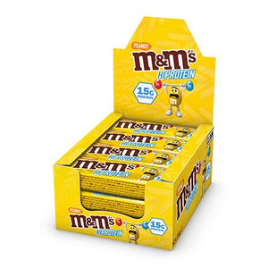 Peanut M&M's Hi-Protein Bar (12 x 51g Bars) - 15g Protein per serving - theskinnyfoodco
