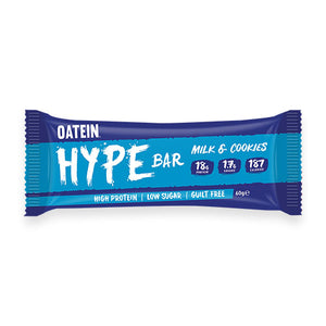 Oatein - HYPE Bar; Low Sugar (5 flavours) 60g Bar - theskinnyfoodco