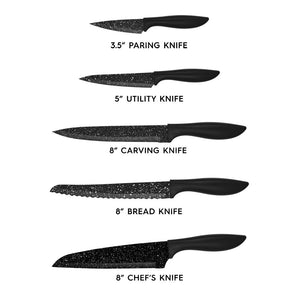 Stainless Steel Knife Set & Block - theskinnyfoodco