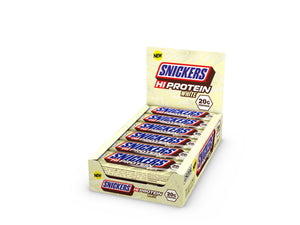 White Snickers Hi Protein Bars 12 x 55g - White Chocolate - theskinnyfoodco