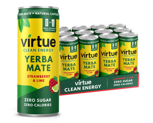 Yerba Mate Zero Calorie Energy Drink - 12x 250ml Can Bundle (Two Flavours) - theskinnyfoodco