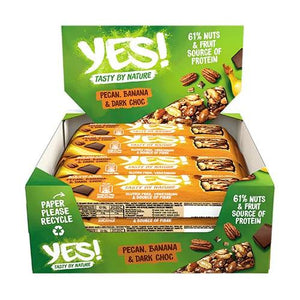 YES! Gluten Free Snack Bar - Box of 12 x 35g (2 Flavours) - theskinnyfoodco