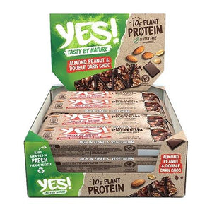 YES! Plant Protein Bar - Box of 12 x 45g (2 Flavours) - theskinnyfoodco