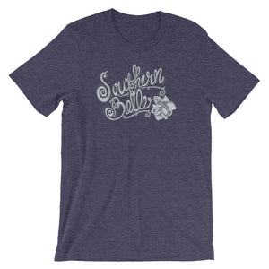 Southern Belle Heather Midnight Navy Bella Canvas T-Shirt | www.sweetpotatojunction.com