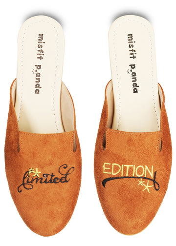 Limited Edition Embroidered Mules