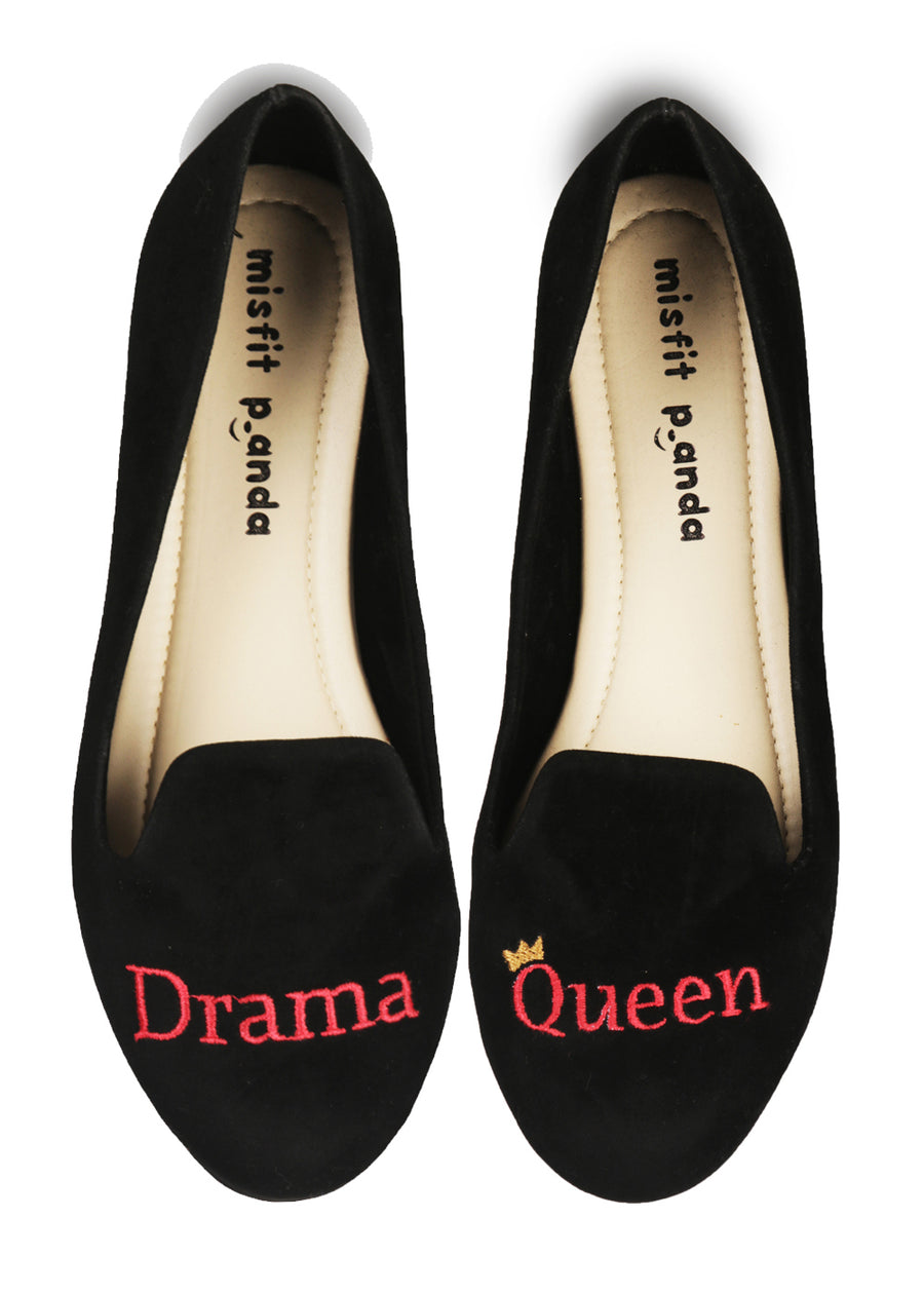 Drama Queen Embroidered Loafers