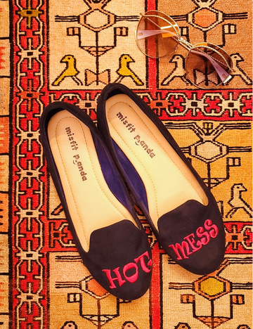 Hot Mess Embroidered Loafers