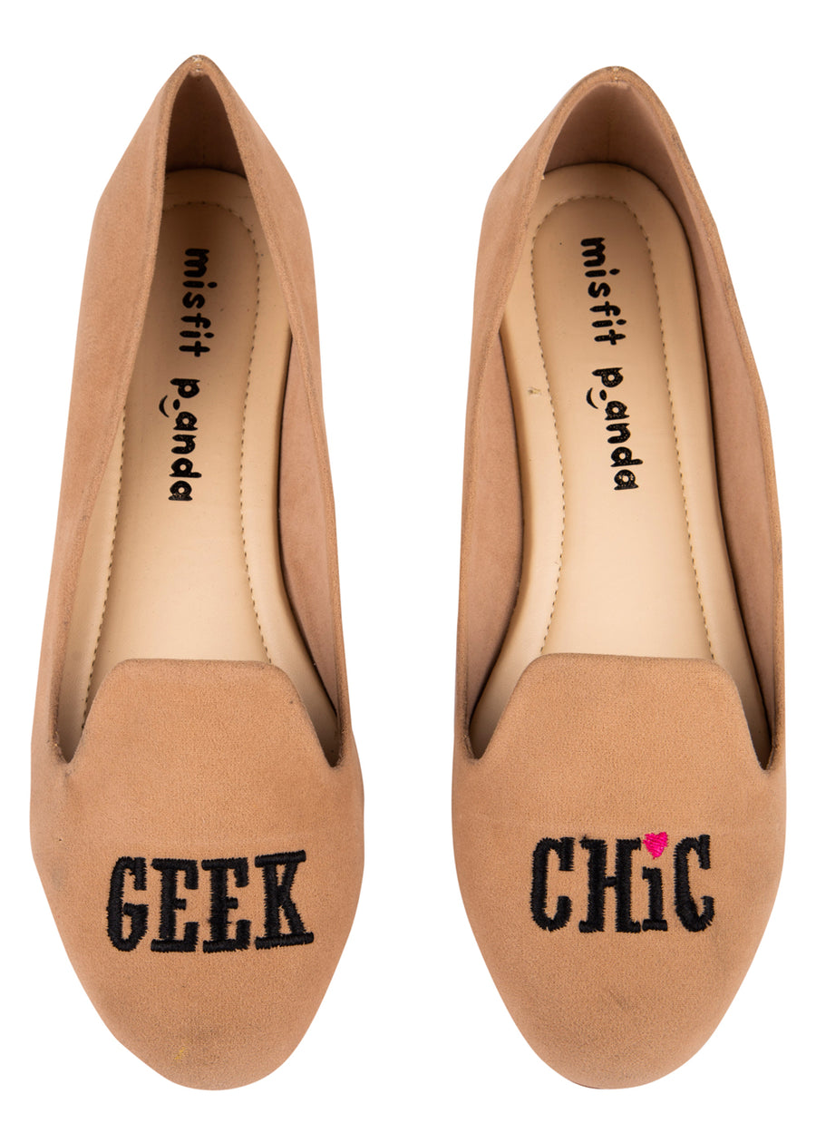 Geek Chic Embroidered Loafers