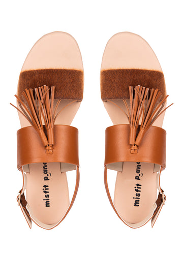 Two Strap Sandals With Tassel