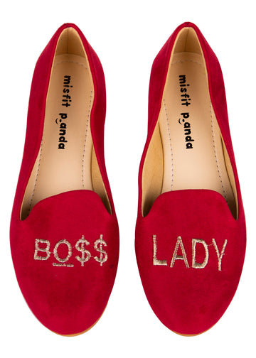 Boss Lady Embroidered Loafers
