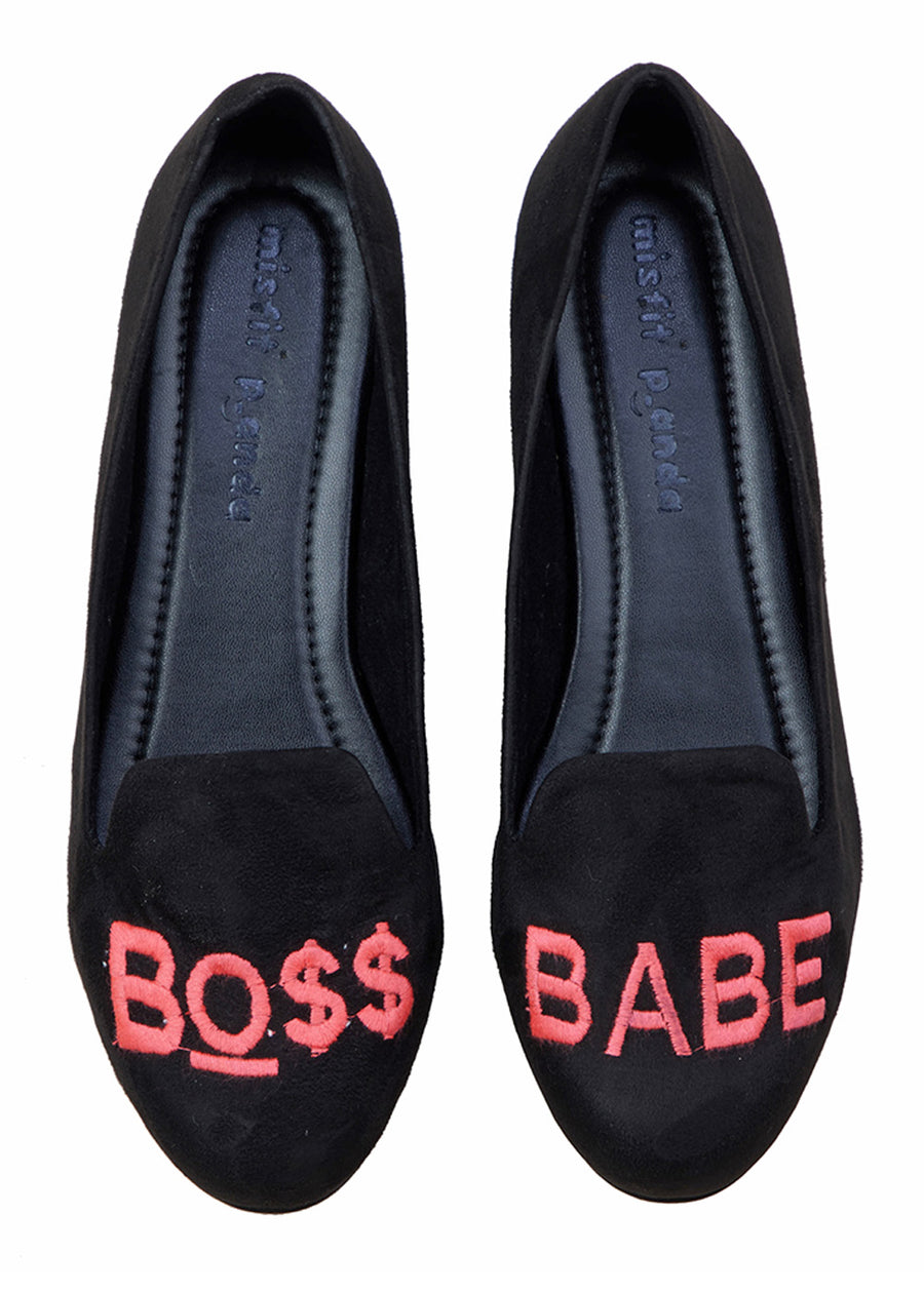 Boss Babe Embroidered Loafers