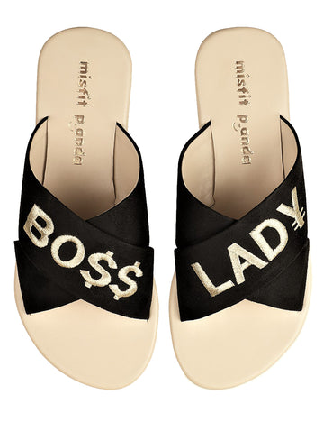Boss Lady Cross Strap Sliders