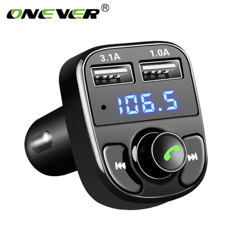 Onever FM Transmitter Aux Modulator Bluetooth Handsfree Car Kit