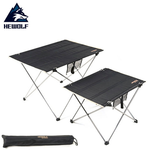 Hewolf Outdoor Ultralight Portable Table Aluminum