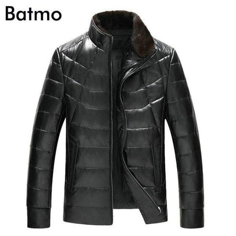 Batmo 2019 new arrival winter  leather jackets men