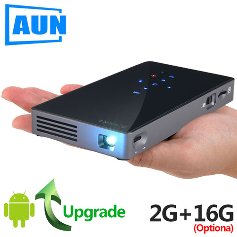 AUN Smart Projector, D5S, Android 7.1 (Optiona 2G+16G) WIFI, Bluetooth, HDMI