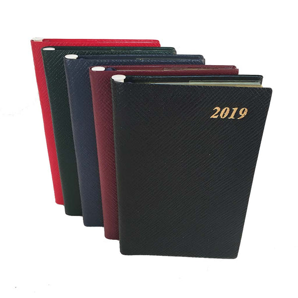 2020 Crossgrain Leather Pocket Planner, 5x3 | Pencil in Spine | D753LJ