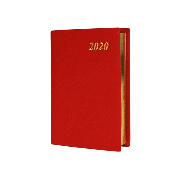 Year 2020 Crossgrain Leather Pocket Planner, 4x2 | One Day Per Page | D142L