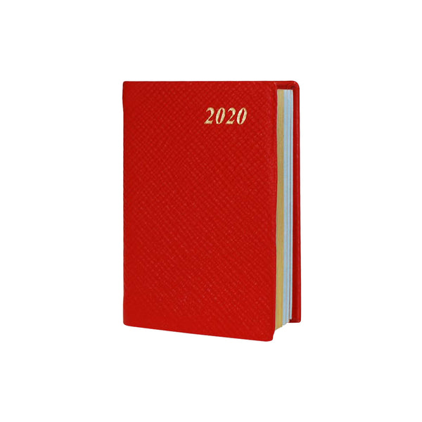 Year 2020 Crossgrain Leather Pocket Planner, 4x2 | D742L
