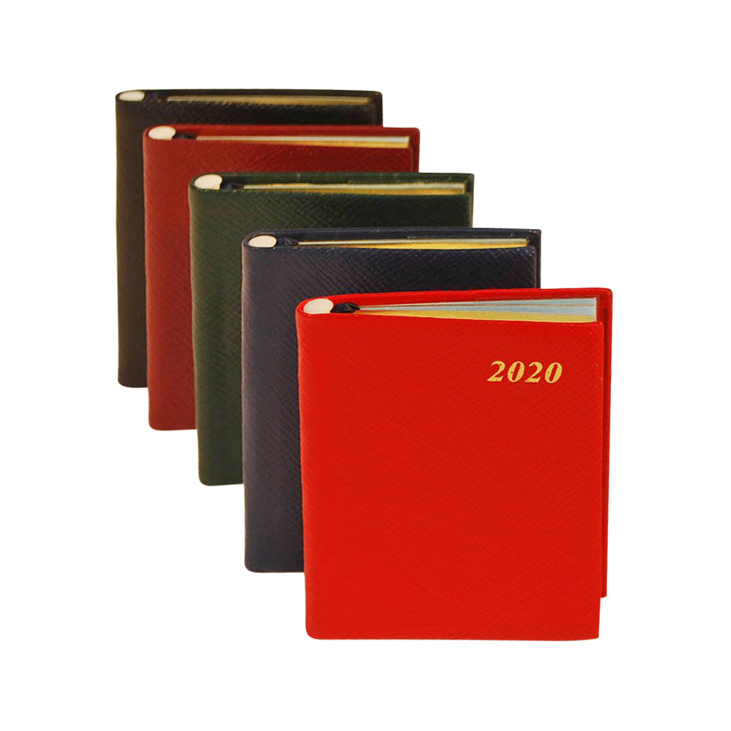 Year 2020 Crossgrain Leather Pocket Planner, 4x2 | Pencil in Spine | D742LJ
