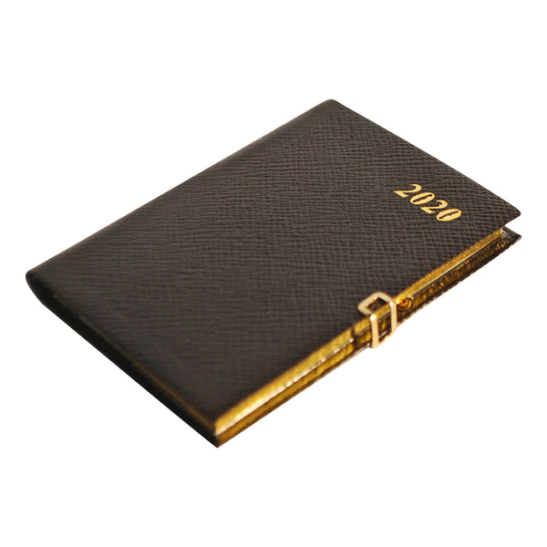 Year 2020 Crossgrain Leather Pocket Planner, 4x2 | Pencil & Clasp | D742LJC