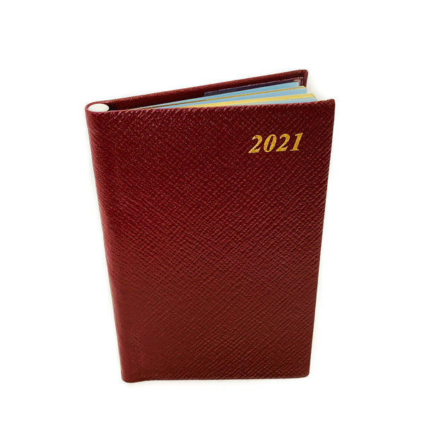 2021 CROSSGRAIN Leather Pocket Calendar Book | 5 x 3