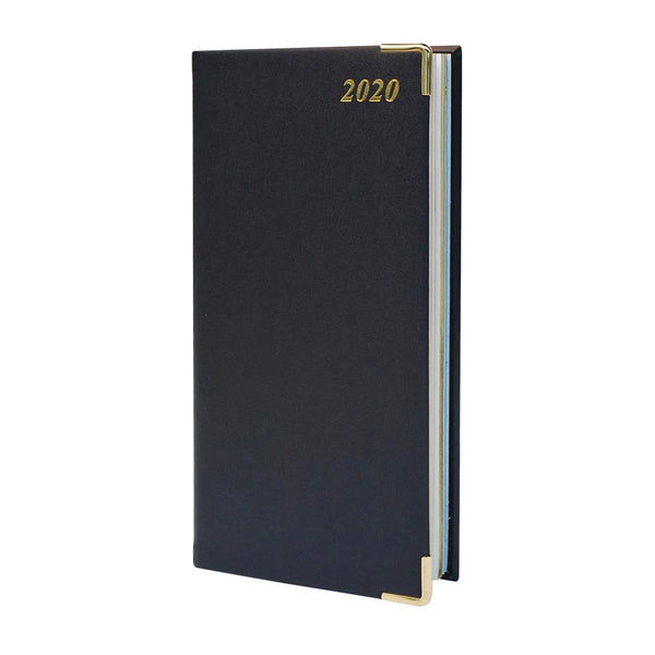 Year 2020 Leather Pocket Planner, 6x3 | Bonded | D763VBL