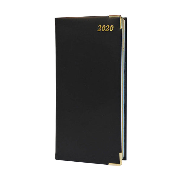 Year 2020 Calf Leather Pocket Planner, 6x3 | D763VCA