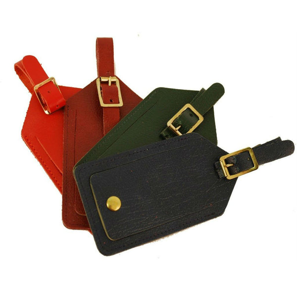 Luggage Tag | Calf Leather Luggage Tags | Initials Available in Gold | Charing Cross, London
