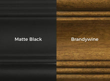 woof options matte black or brandywine