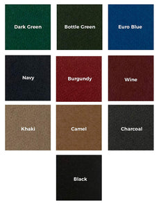 Olhausen 8' Breckenridge Pool Table color options