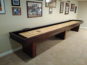 "Olhausen 12' x 16"" York Shuffleboard in home"