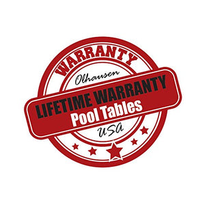Olhausen 8' Breckenridge Pool Table warranty