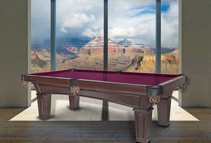 Olhausen 8' Belmont Pool Table with a view