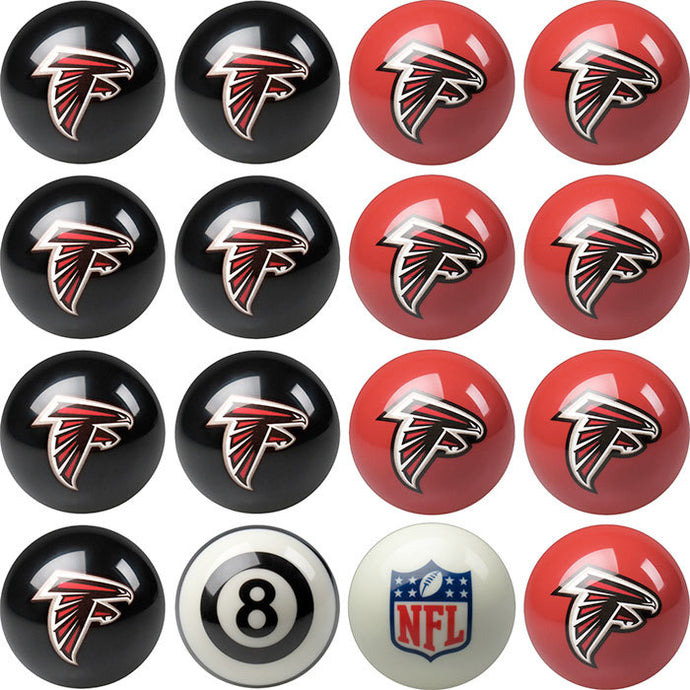 NFL Atlanta Falcons Pool Balls - Home/Away Set