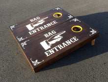 AZBS Bag Entrance Cornhole Board