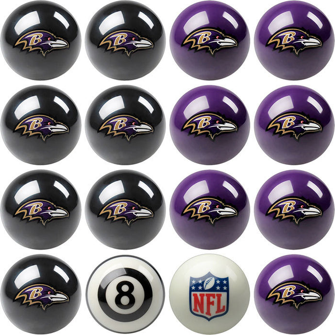 NFL Baltimore Ravens Pool Balls - Home/Away Set