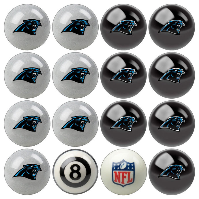 NFL Carolina Panthers Pool Balls - Home/Away Set