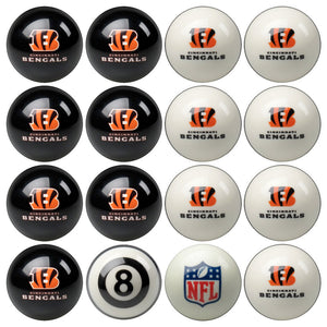 NFL Cincinnati Bengals Pool Balls - Home/Away Set