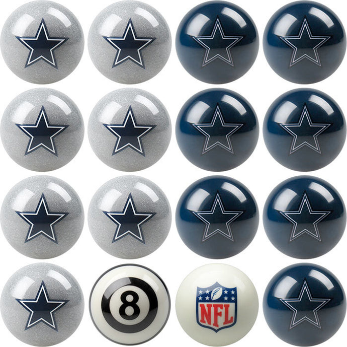 NFL Dallas Cowboys Pool Balls - Home/Away Set