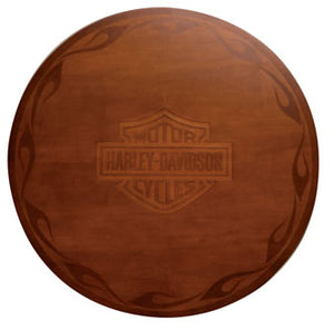H-D® Bar & Shield Flames Pub Table w/ Heritage Brown finish