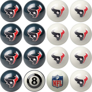 NFL Houston Texans Pool Balls - Home/Away Set