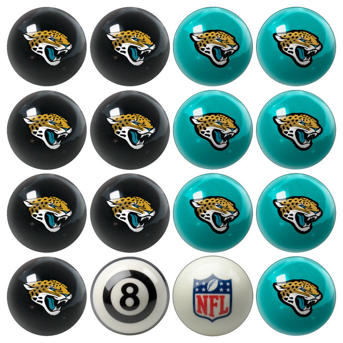 NFL Jacksonville Jaguars Pool Balls - Home/Away Set
