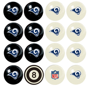 NFL Los Angeles Rams Pool Balls - Home/Away Set