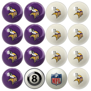 NFL Minnesota Vikings Pool Balls - Home/Away Set