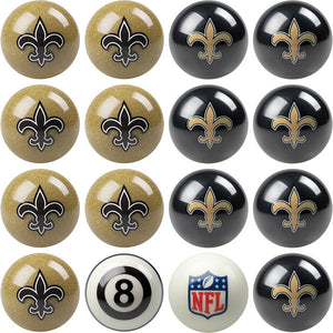 NFL New Orleans Saints Pool Balls - Home/Away Set