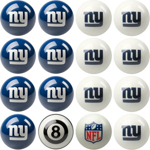 NFL New York Giants Pool Balls - Home/Away Set